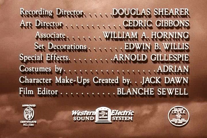 Picture of beginning/end credits