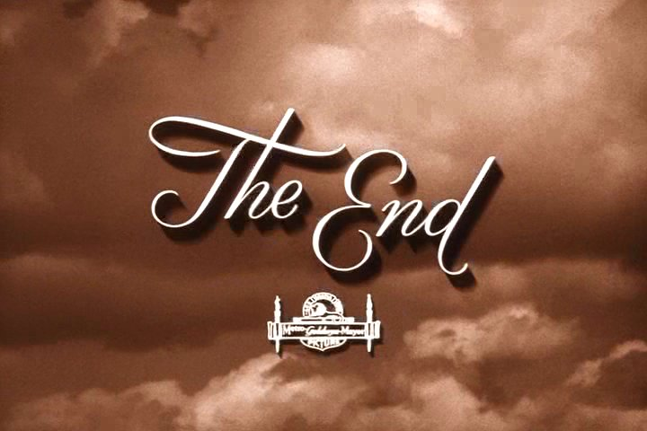 "Picture that says ""The End"" at end of movie"