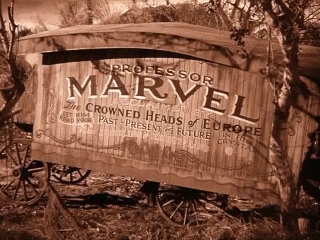 Professor Marvel's wagon Picture Click here to goto our Oz Links page